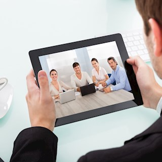Telefoninterview via Tablet